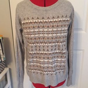 Grey Wool J. Crew Sweater